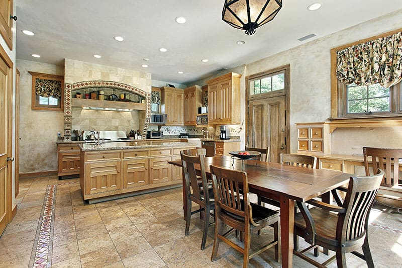 Everything Is One When Kitchen Island Blends With Cabinetry