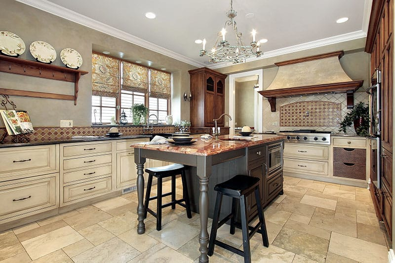 Fully Functional Kitchen Island With Sink Drainage And Ample Counter Space