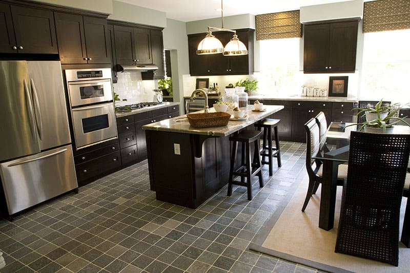 Medium Kitchen Island And A Nice Looking Breakfast Table For The Occasional Family Treat