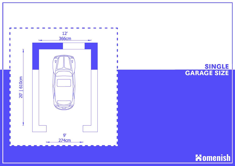Standard Garage Dimensions 8 Layouts, Single Car Garage Width Standard