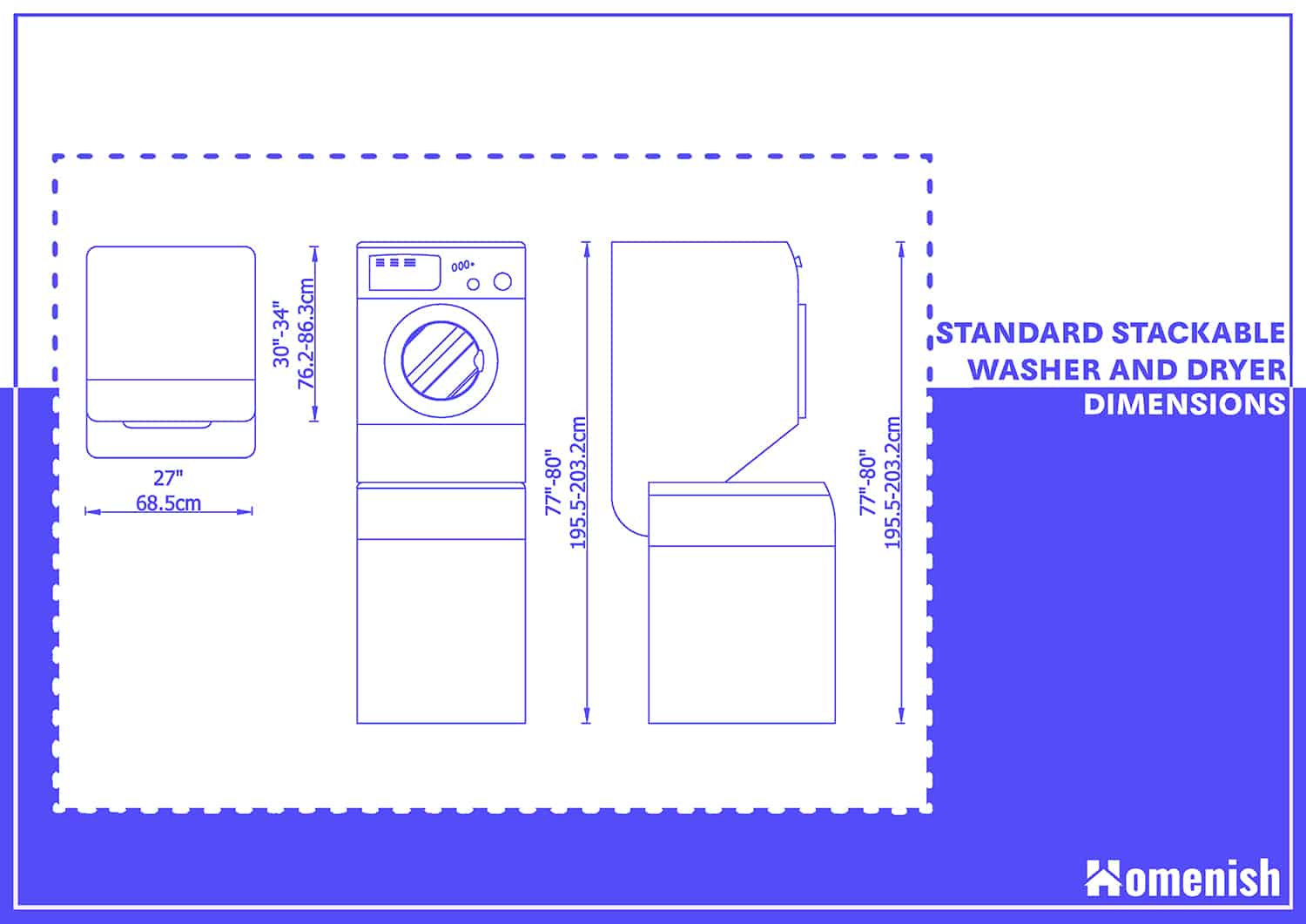 Front-Loading Washer and Dryer Dimensions