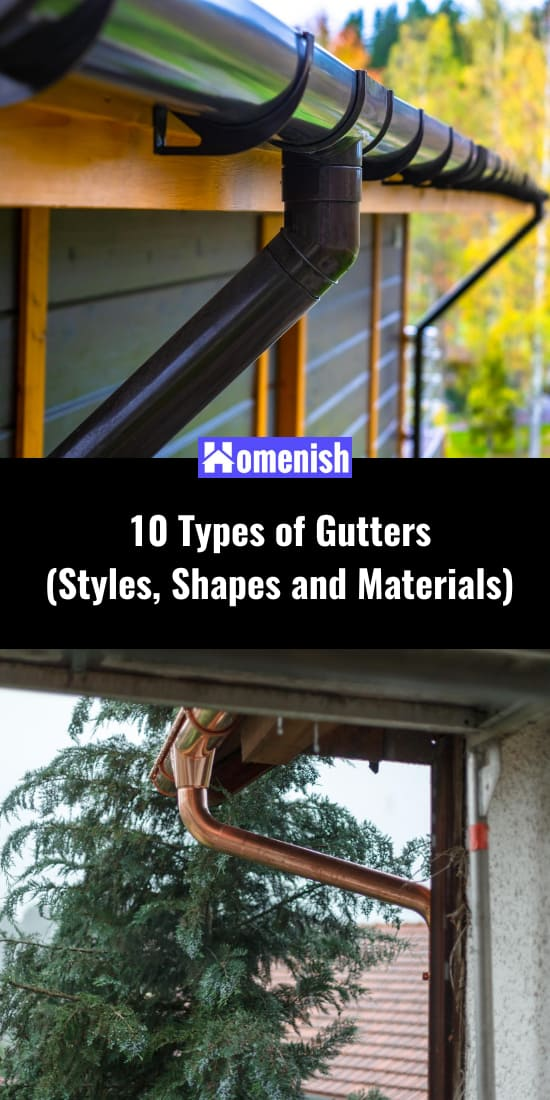10 Types of Gutters (Styles, Shapes and Materials)