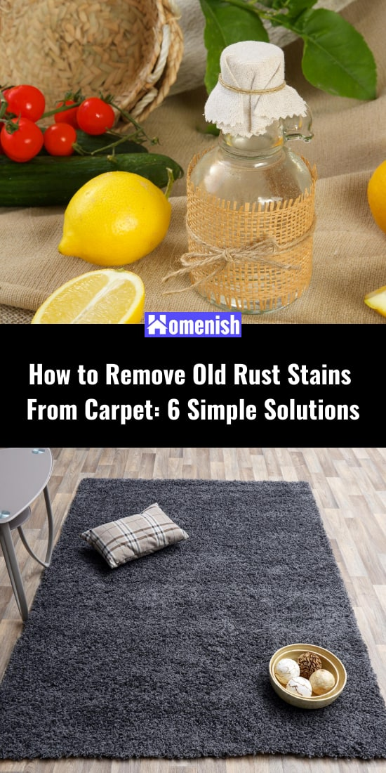 How to Remove Old Rust Stains From Carpet 6 Simple Solutions