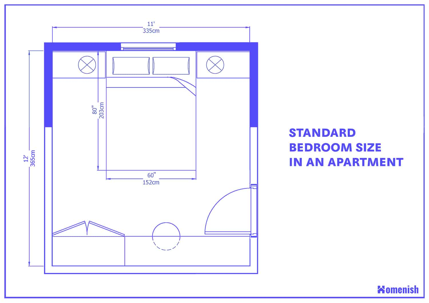 Average Bedroom Size For 9 Bedroom Layouts With Diagrams Homenish