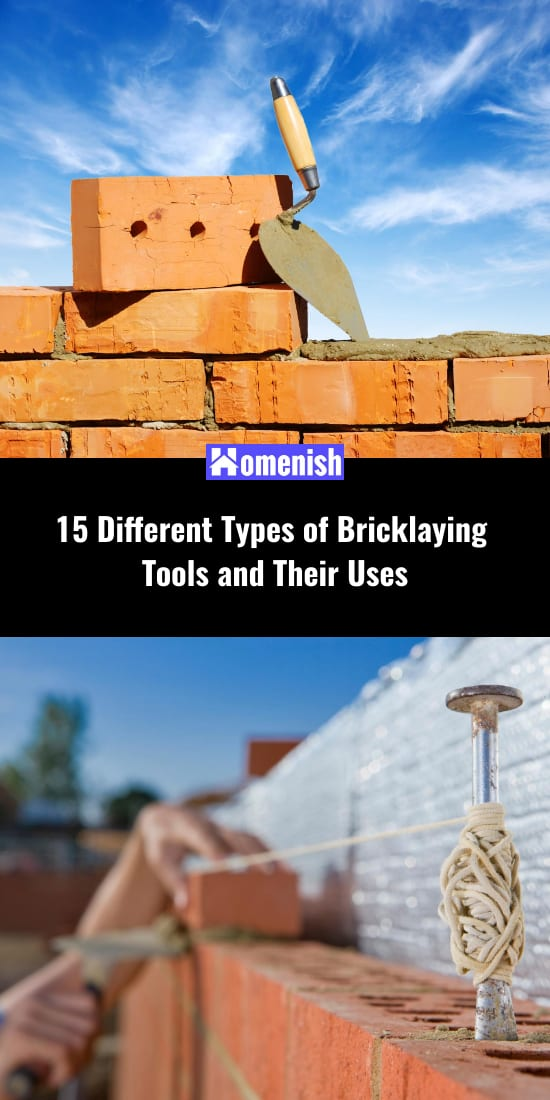 15 Different Types of Bricklaying Tools and Their Uses