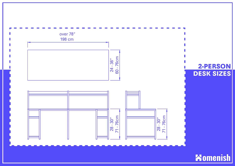 2-person Desk Dimensions