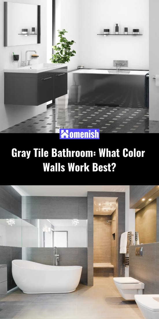 Gray Tile Bathroom What Color Walls Work Best