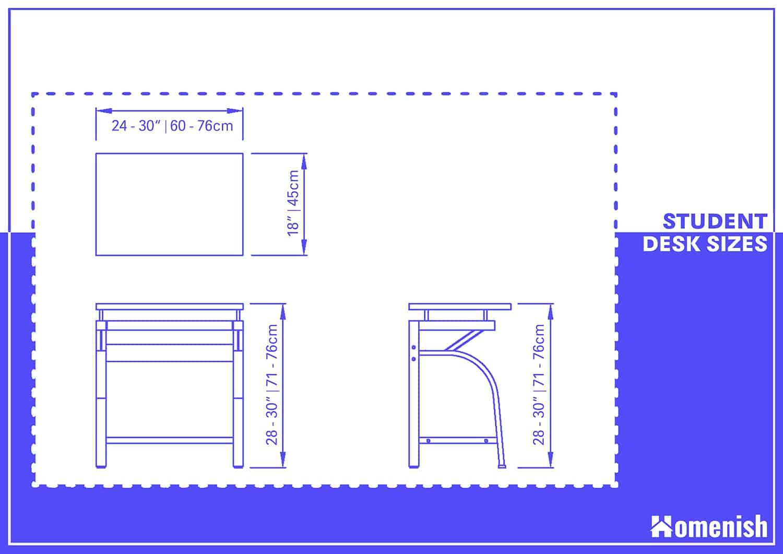 Student Desk Dimensions