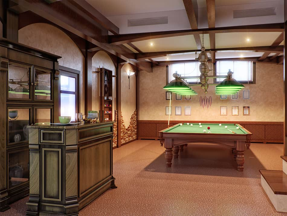 Bar with Billiards Table