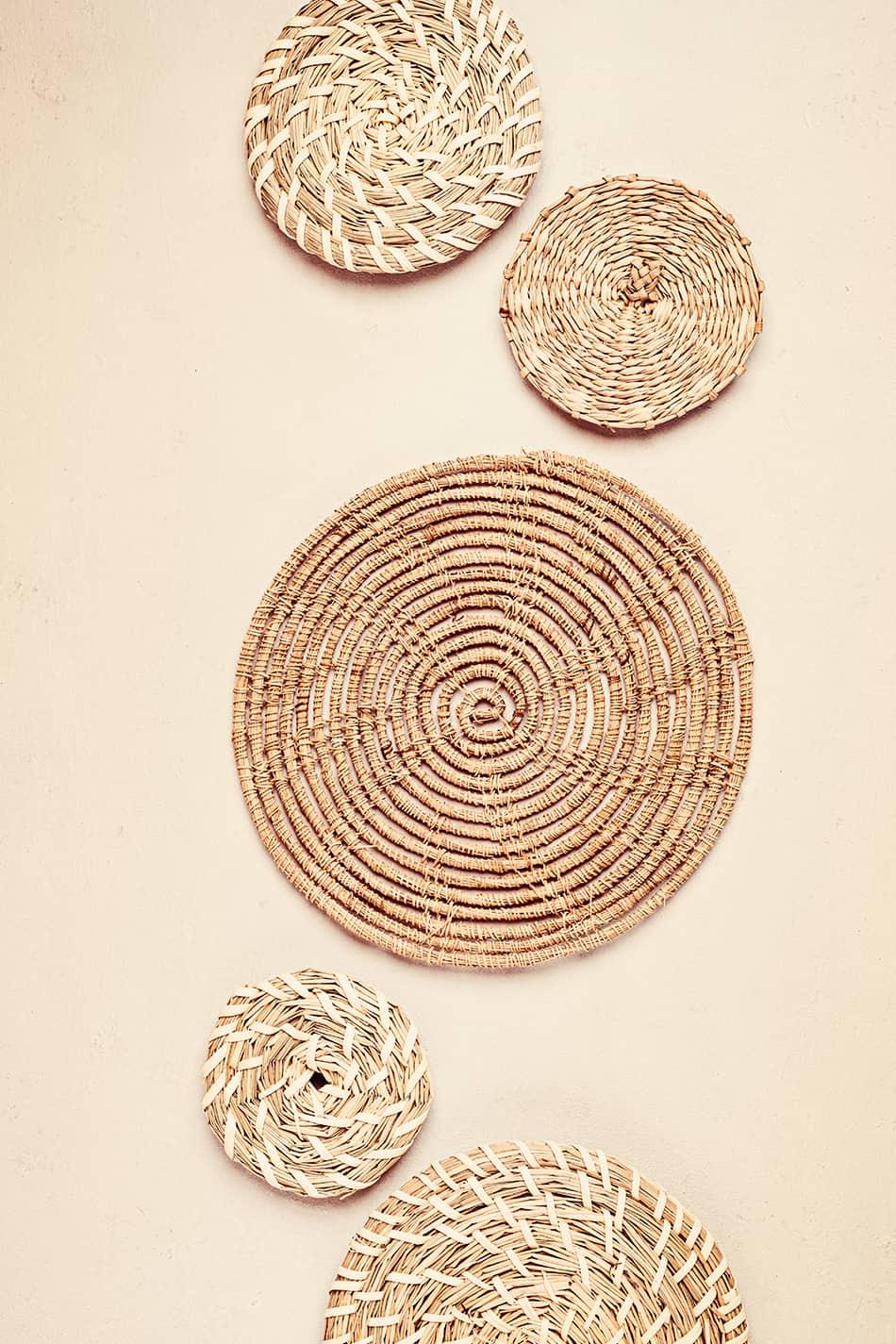 Boho-Style Woven Baskets