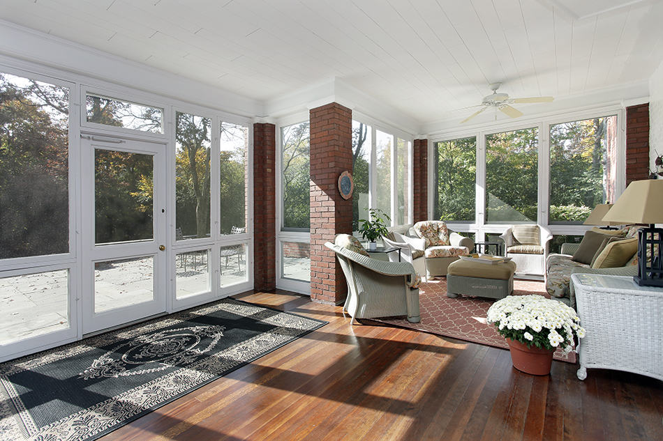 Classy Porch in Wicker and Wood