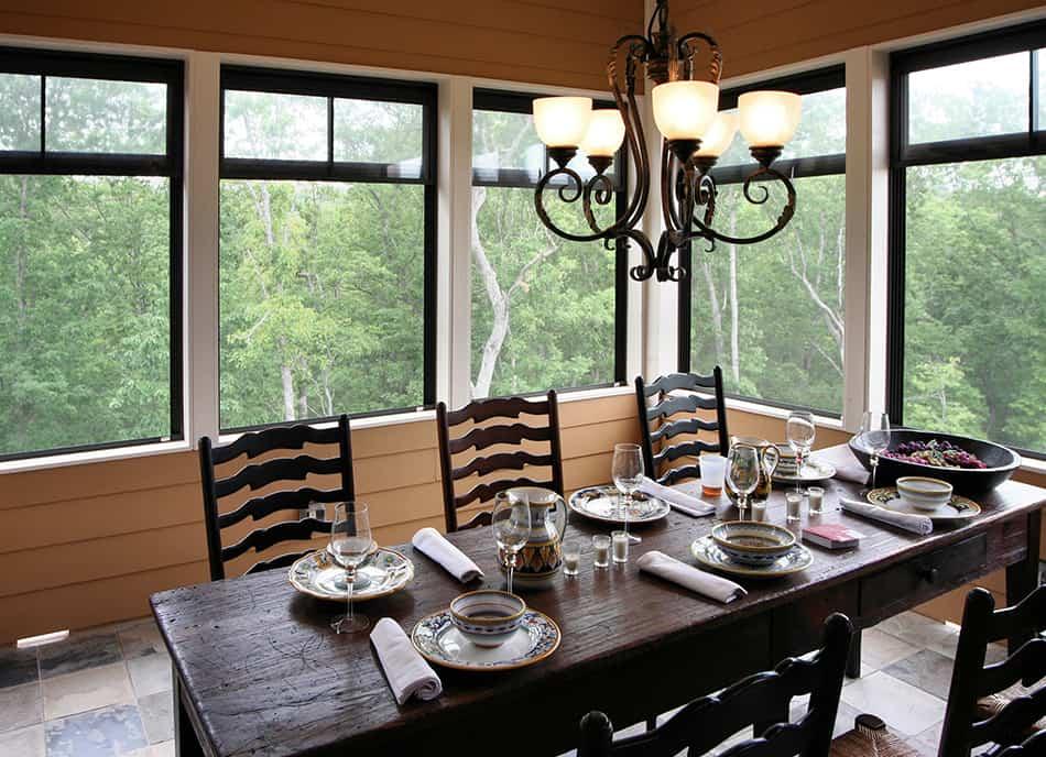 Classy Rustic Dining Room