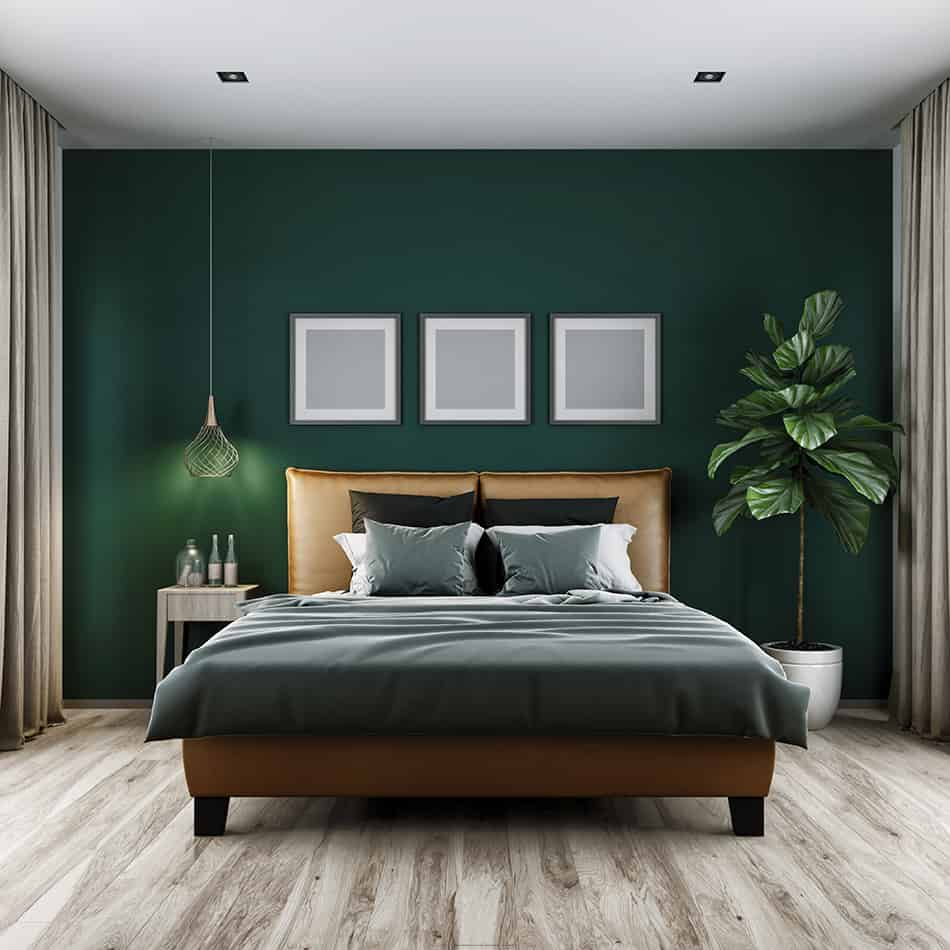Curtains for Dark Cool-Green Tone Walls