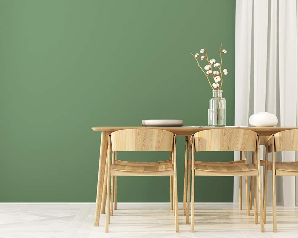 Curtains for Warm-Green Tone Walls