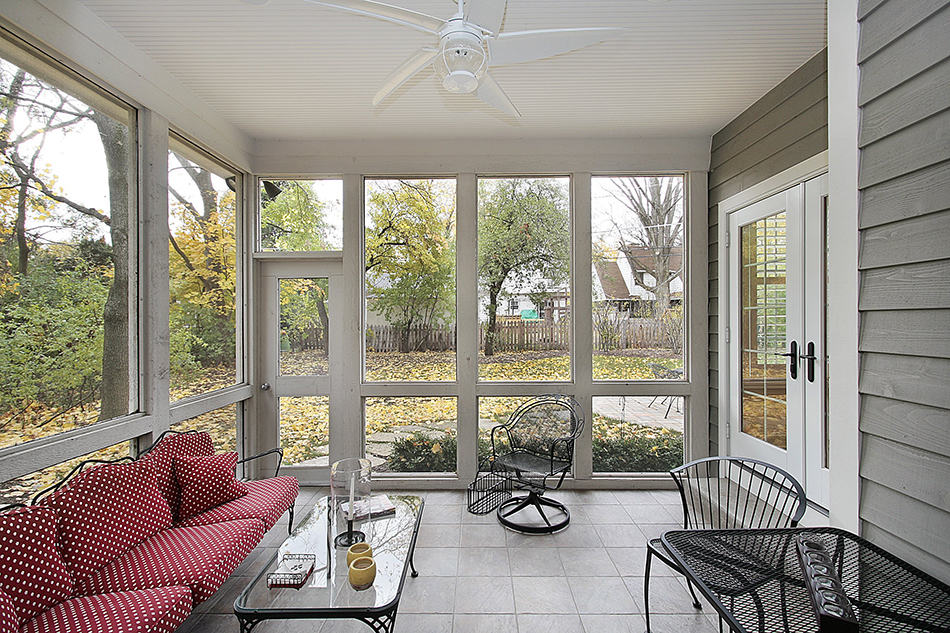 Entry Porch with Comfortable Sitting Area