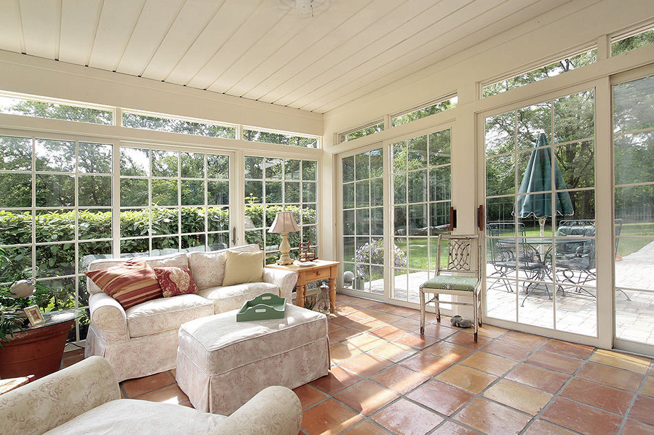 Flowing Porch with Spanish Tile