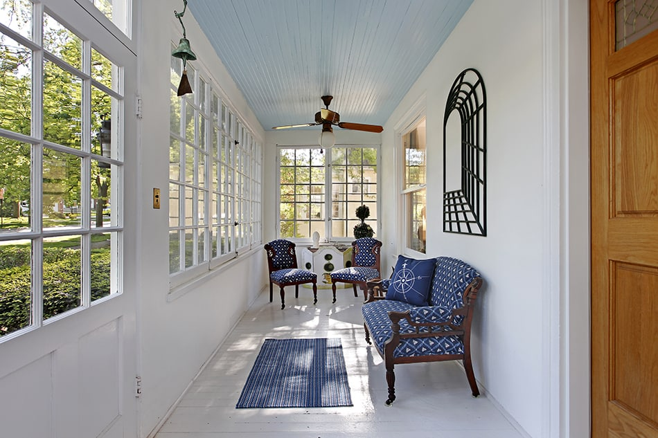 Narrow Porch with Just Enough Seating