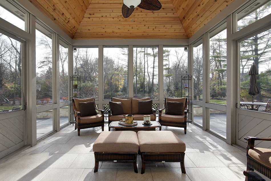 Pass-Through Porch with Wood Ceiling