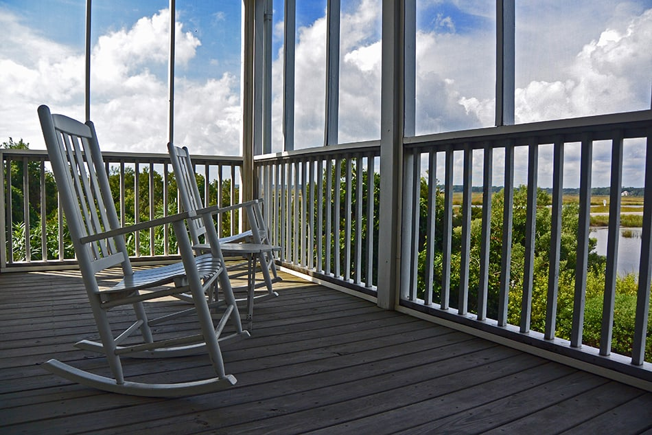 Rocking Chairs with a View to the Pond