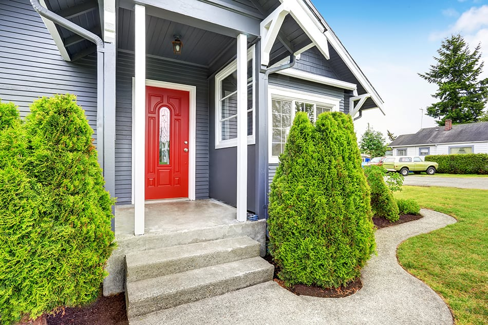 Simple Front Porch with Pillars