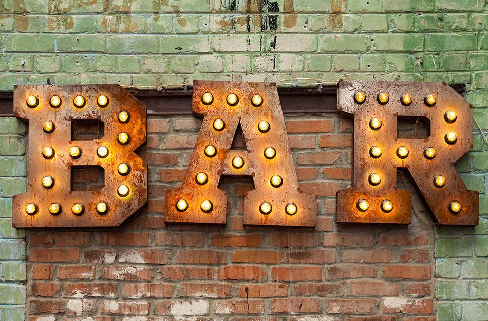 Worn Bar Sign