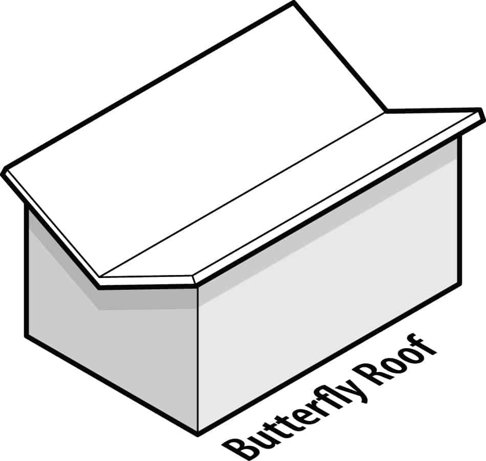 Identifying a Butterfly Roof