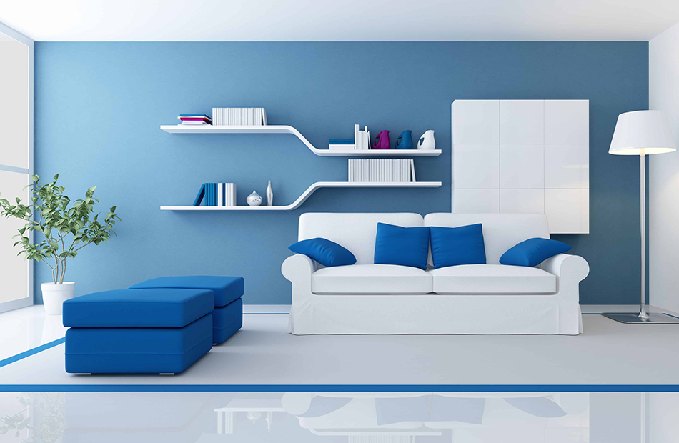 A Mix of White and Blue Furniture