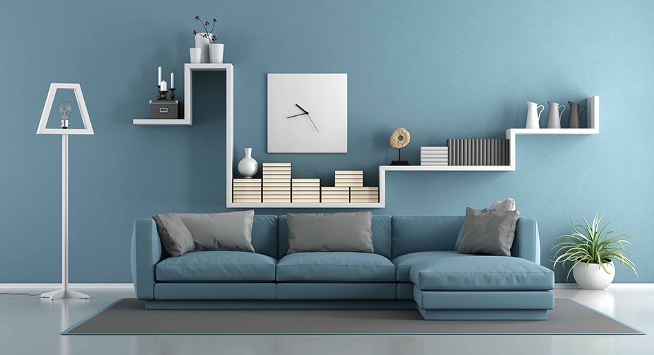Blue Furniture with Blue Walls