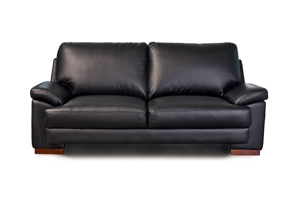 Elegant and versatile Black Leather Sofa