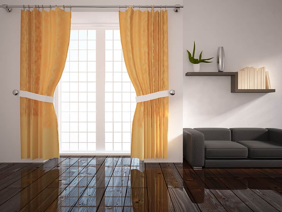 Having the odd-colored curtain