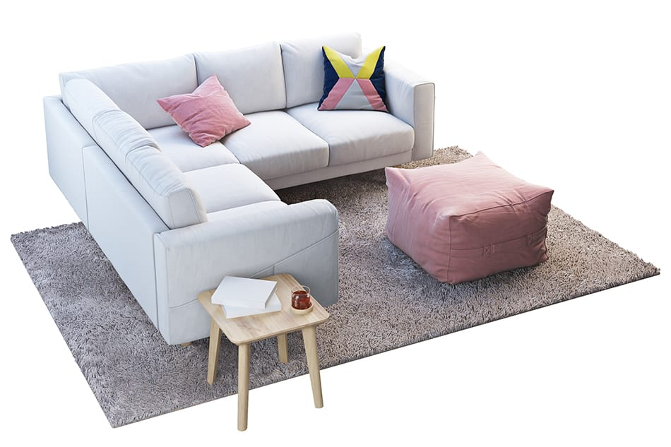 Match the Rug with the Short-Side of Sectional