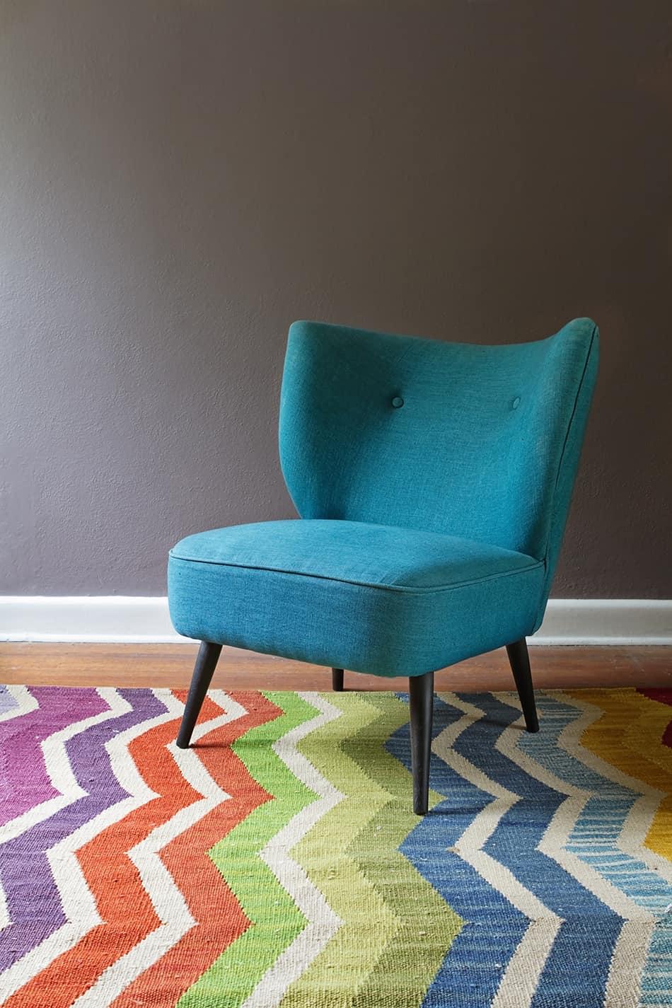 Multi-Color Carpet for Dark Gray Walls
