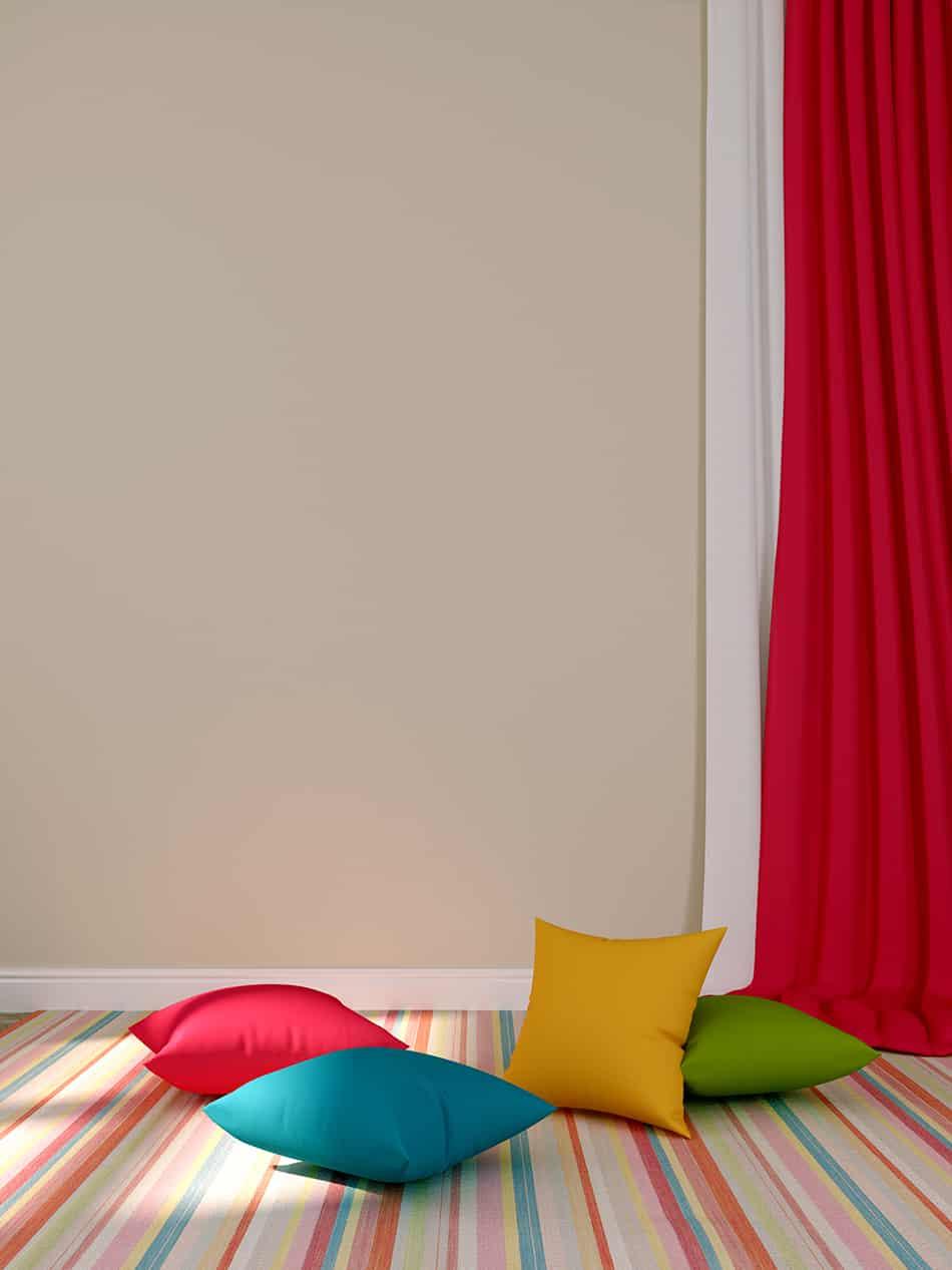 Multi-Colored Carpeting