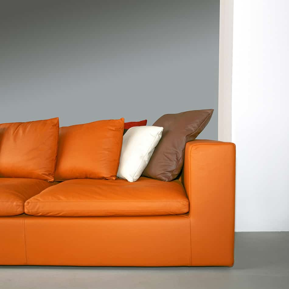 Orange Leather Sofa as a Brown Alternative
