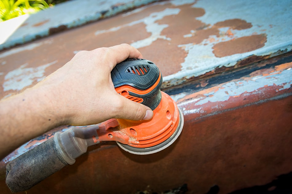 Removing Rust, Residue, and Old Paint from the Metal Surface