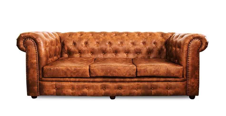 Saddle Brown Leather Sofa