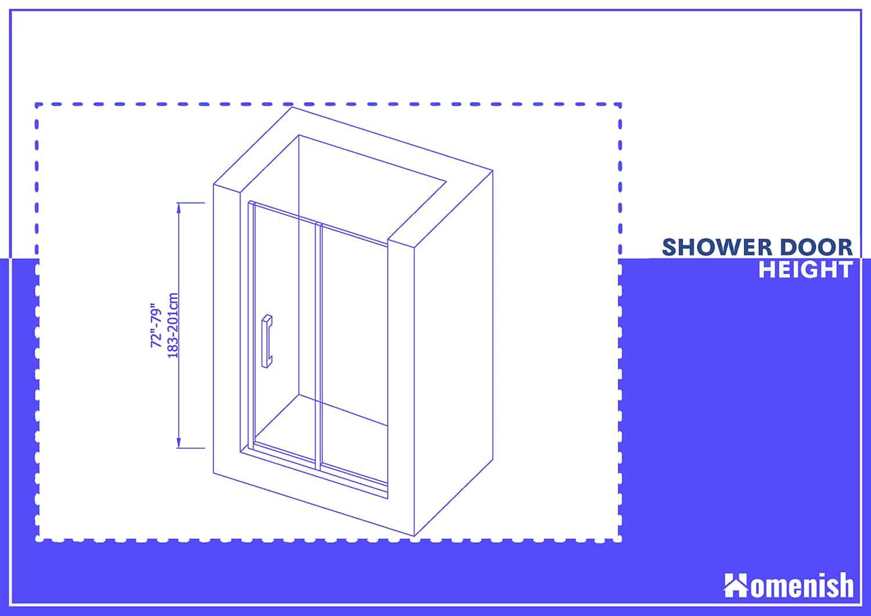 Standard Shower Door Height