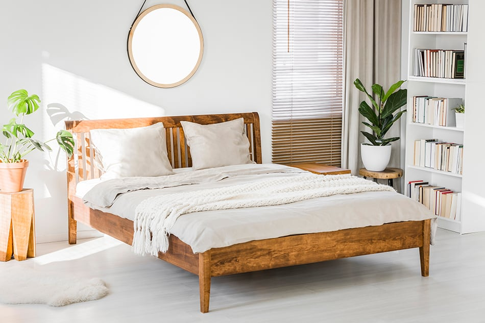 Wooden King-Size Bed
