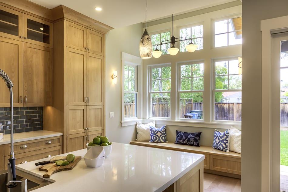 Beige Oak Wooden Cabinets
