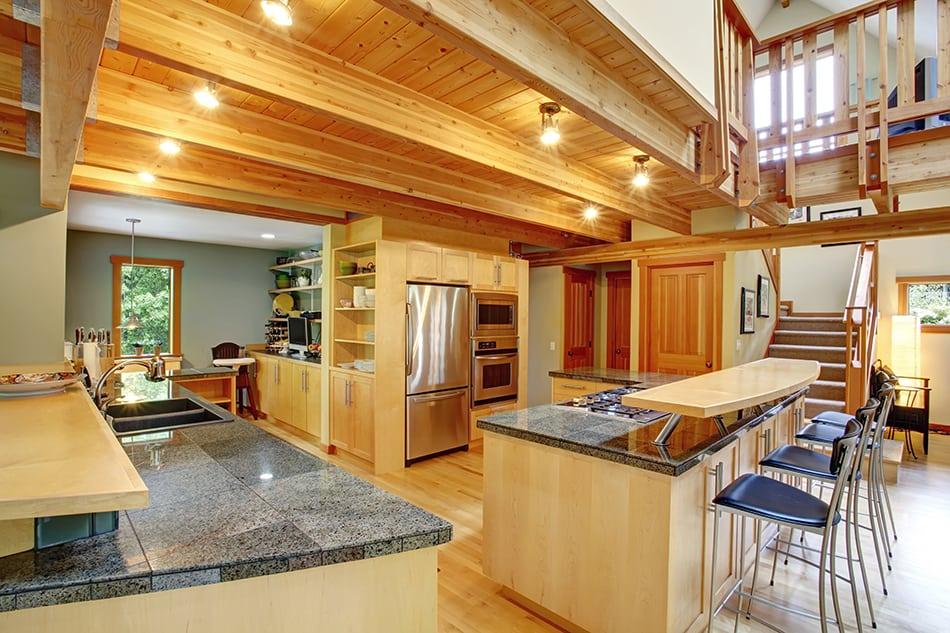 Beige Pine Wooden Cabinets