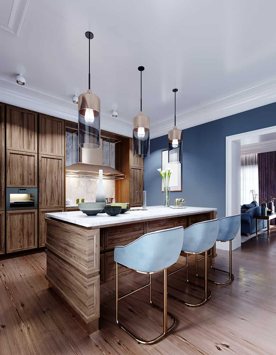 9 Brown Blue Kitchen Ideas for a Colorful Cooking Space   Homenish