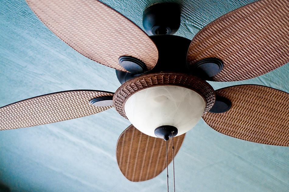 Outdoor Ceiling Fan with Lights
