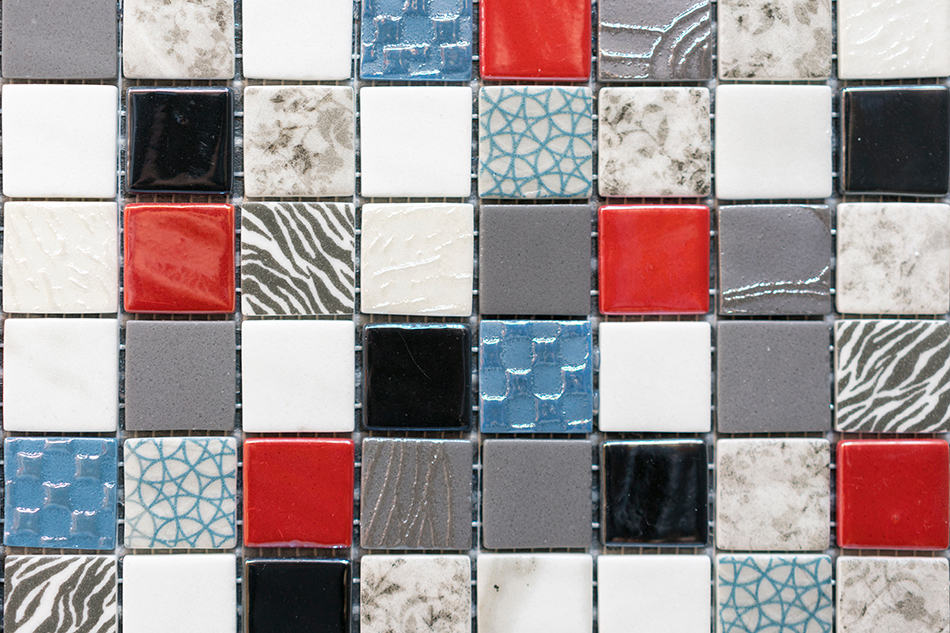 Gray and Red Tile Combo