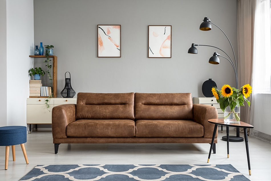 Low Leather Sofa