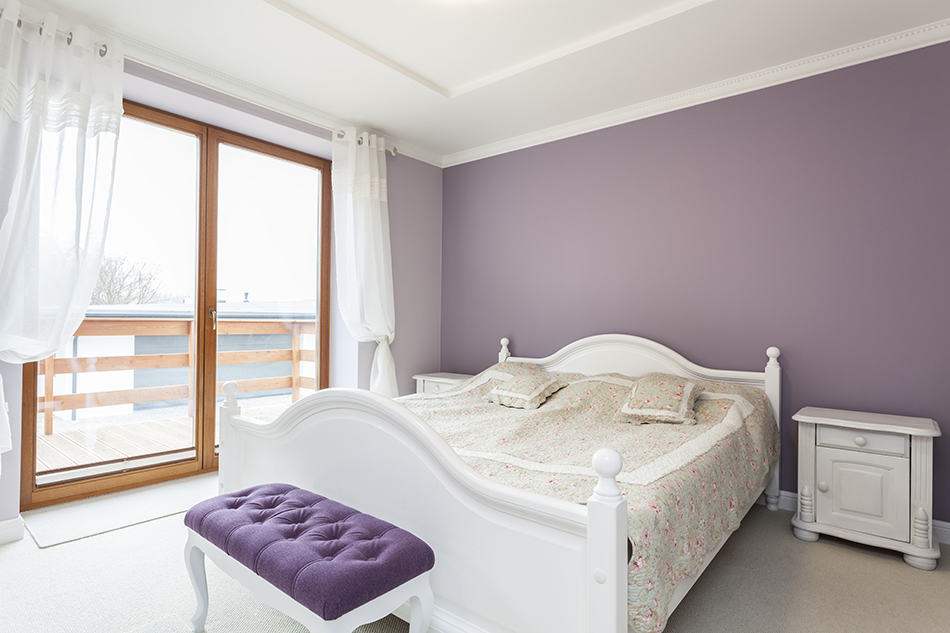 Muted Purple Shades with White
