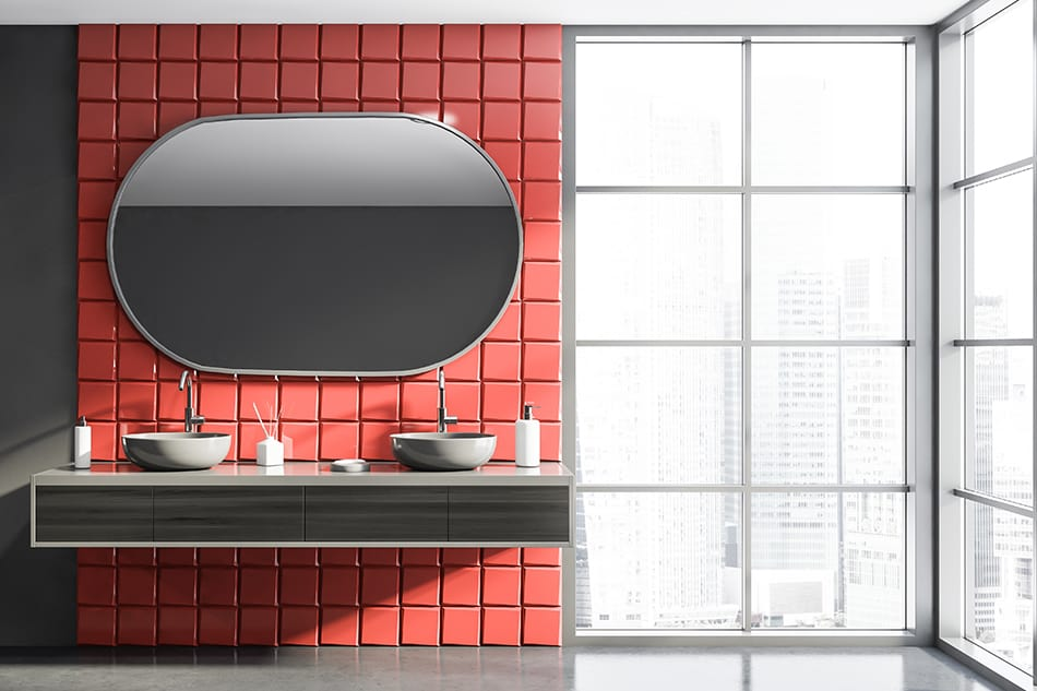 Red and Grey Walls for Styles