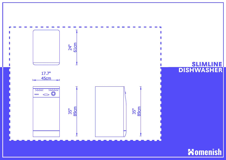 Slimline Dishwasher Dimensions