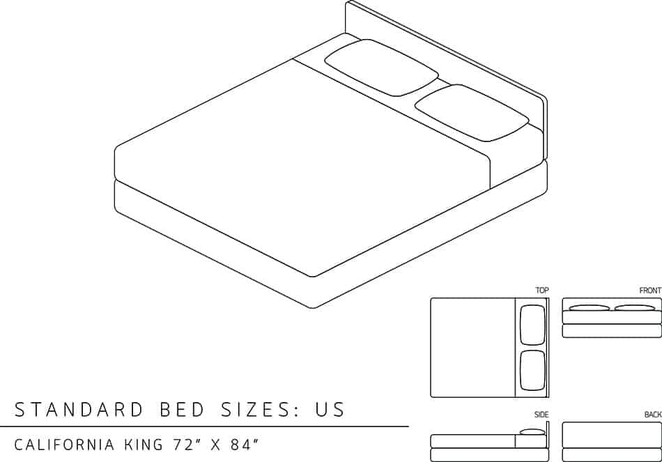 The Dimensions of a California Bed
