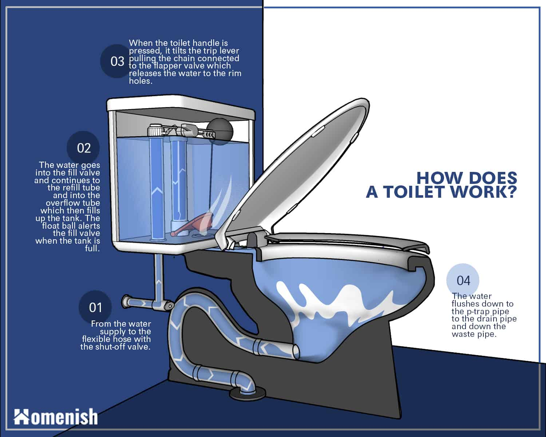 Cómo funcionan los inodoros