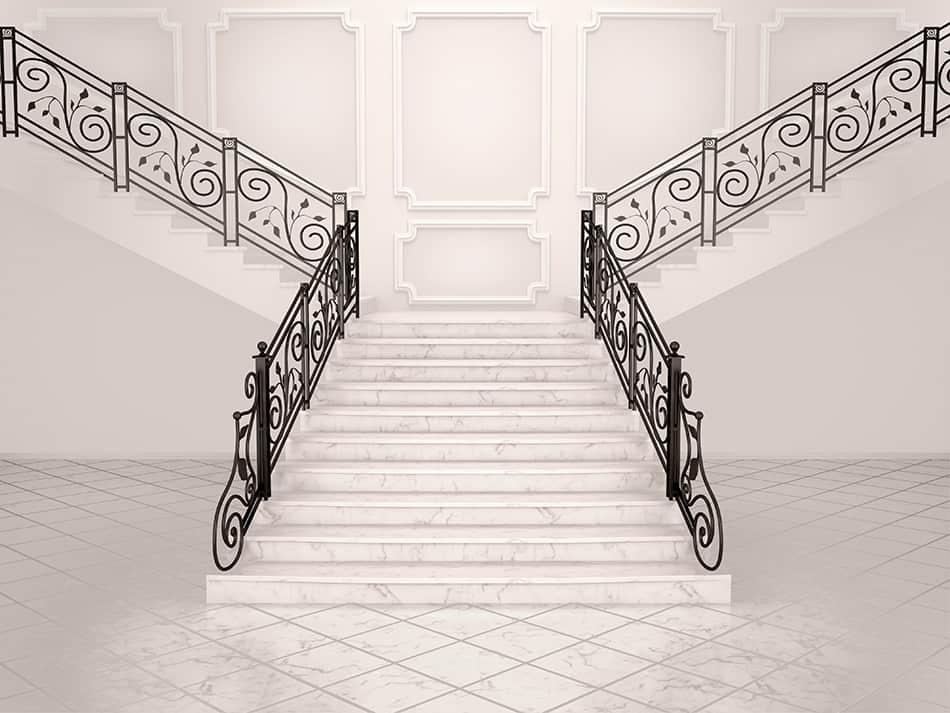 Bifurcated staircases